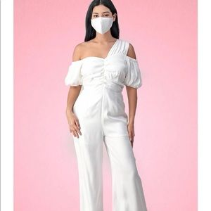 White Romper Mask Included